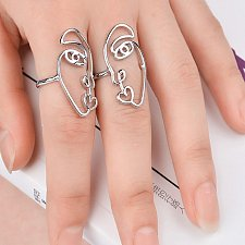 Buy cute 2pcs SILVER rings