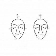 Buy cute silver plated earring