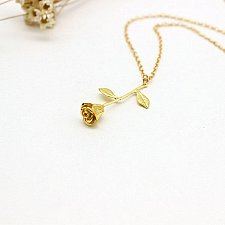 Buy gold/silver rose flower necklace