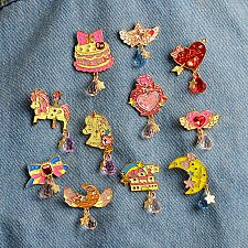 Buy 11pcs cute brooch jewelry children pin