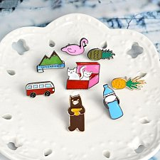 Buy 8pcs cute brooch jewelry kids pin