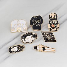 Buy 7pcs cute brooch jewelry set