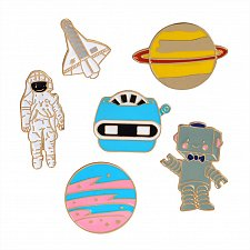 Buy 6pcs cute brooch jewelry kid pin