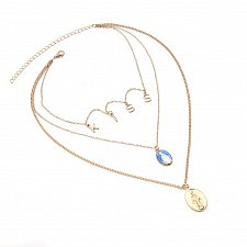 Buy more layer women girl fashion gold plated necklace