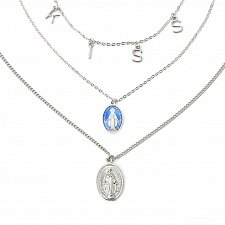 Buy more layer women girl fashion silver plated necklace