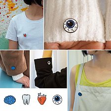 Buy 4pcs brooch jewelry children pins