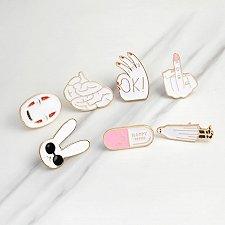 Buy 1pcs cute brooch jewelry children pins