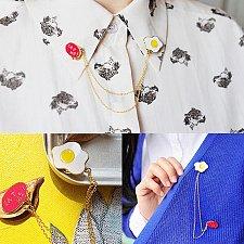 Buy 1pcs cute egg brooch jewelry children pins