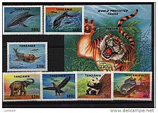 Buy Tanzania 1287-94 Endangered Species cpl MNH Panda Koala Elephant Tiger etc
