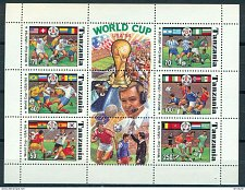 Buy Tanzania 1174Gi World Cup Soccer Football US souvenir sheet block MNH Cat $7.25 1994