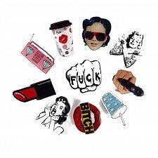 Buy 9pcs funny women kids brooch jewelry pins