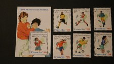 Buy Sahara Soccer Football France World Cup 1998 set of 6 souvenir sheet unused MNH
