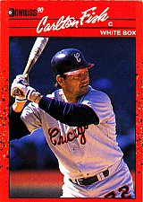 Buy Carlton Fisk #58 - White Sox 1990 Donruss Baseball Trading Card