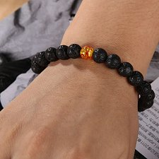 Buy fashion women men beads bracelet