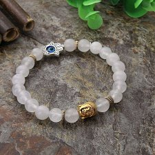 Buy fashion women men Buddha beads bracelet