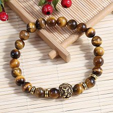 Buy fashion men lion head buddha bracelet