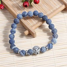 Buy fashion men lion head beads bracelet
