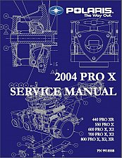 Buy 2004 Polaris Pro-X Snowmobiles ( 440 550 600 700 800 ) Service Manual on a CD
