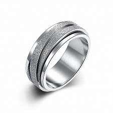 Buy fashion men titanium steel silver ring