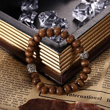 Buy fashion men wood beads bracelet
