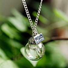 Buy bottle wish letter necklace