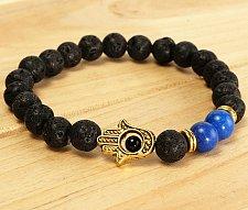 Buy fashion men black beads hand bracelet