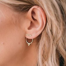 Buy cute gold plated circle earring