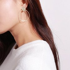 Buy cute gold/silver plated earring