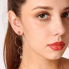 Buy cute gold/silver plated circle earring