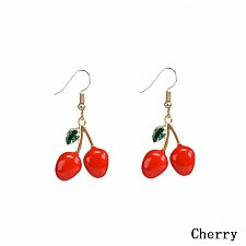 Buy Women cute fruit cherry earring