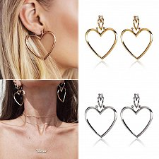 Buy Women heart gold plated earring