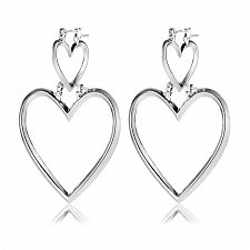 Buy Women heart silver plated earring