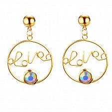 Buy Women love letter earring colorful