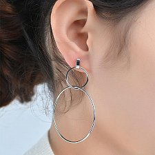 Buy Women silver plated circle earring