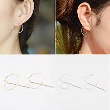 Buy cute gold/silver plated women stud earring