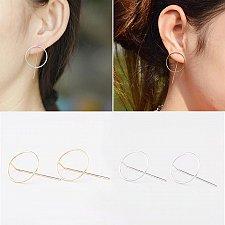 Buy cute gold/silver plated women stud earring
