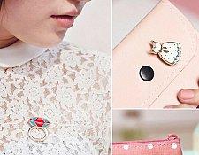 Buy 2pcs cute sweater brooch jewelry pins
