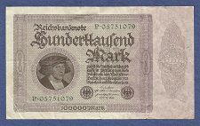 Buy GERMANY 100,000 Mark 1923 Banknote P05751079 Pick #83a