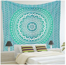 Buy bed sheet yoga mat tapestry table cover scarf beach towel