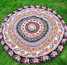 Buy bed sheet yoga mat tapestry tablecloth scarf beach round wall decoration