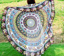 Buy yoga mat tapestry tablecloth scarf beach round wall decoration