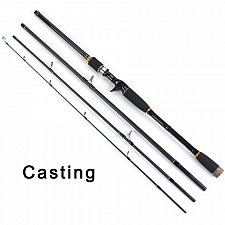 Buy 100% Carbon Fiber Rod Spinning Fishing Rods Casting Travel Rod 4 Sections Fast Action
