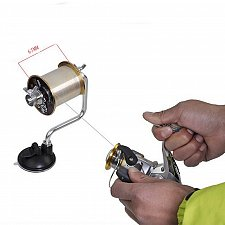 Buy Portable Aluminum Fishing Line Winder Reel Spool Spooler System Tackle Tool Suction