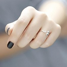 Buy Women Adjustable 925 sterling silver ring