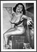 Buy STRIPPER DORIAN DENNIS BUSTY DEEP CLEAVAGE POSE IN BLACK LACE BRA NEW REPRINT 5X7 #33