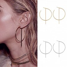 Buy Gold plated/ silver women earring