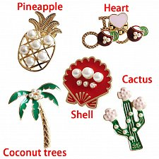 Buy 5pcs funny women brooch jewelry pins