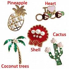Buy 5pcs funny women brooch jewelry pins