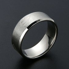 Buy fashion men ring titanium steel silver ring