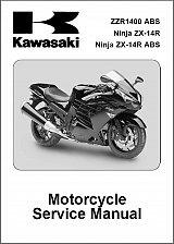 Buy 2012-2013 Kawasaki Ninja ZX-14R / ZZR1400 ABS Service Manual on a CD